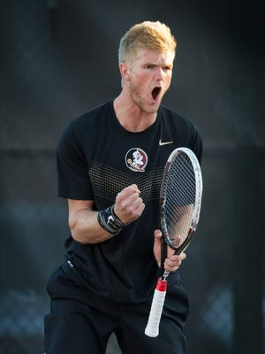 Ben Lock is 15-7 for Florida State this season in singles play.