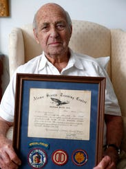 WWII veteran and 'Alamo Scout' Jack Geiger is shown