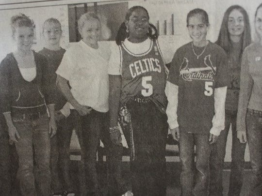 The 2004 Union County Middle School Student Council Officers are pictured here.They are, from left, Tori Baird, Callie Belt, Taylor Vinson, Nicole Warmack, Peaches Johnson, Maddie White, Claire Hardesty, and Celeste Brown.