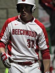 Beechwood junior Devin Johnson gets ready to bat during