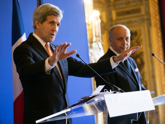 French Foreign Affairs Minister meets with US Secretary of State