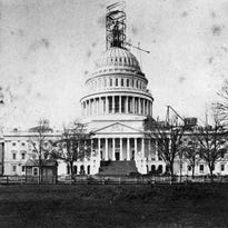Construction is performed in 1863 on the tholos topping the dome of the U.S. Capitol in Washington. That year, Congress passed the False Claims Act.