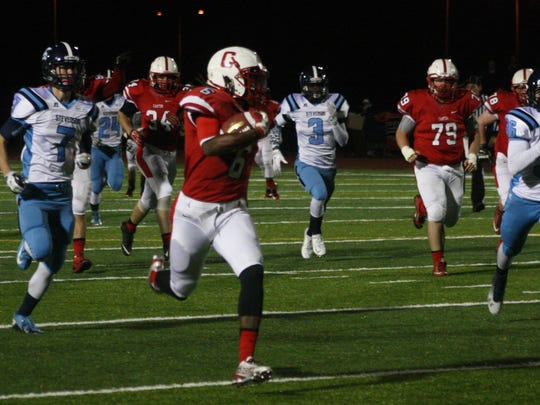 Jared Stephens hits full stride on his 62-yard touchdown run.