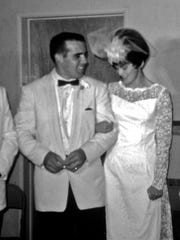 Susan and Ed Dunnam married Sept. 23, 1966, in Los Angeles.