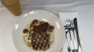 Naked mahi-mahi by Chef Chris Tingle at McGuire's Irish Pub is prepared by lightly seasoning and grilling the fish.