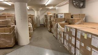 Summit County's stockpile of personal protection equipment is stored in an undisclosed location.