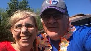 Timothy LaPointe, a resident of Wells and a volunteer with the American Cancer Society, this month received the Sandra C. Labaree Volunteer Values Awards from the Society recognizing his dedication to its life-saving mission. He is pictured at the Relay For Life of York County with volunteer Gail McDonald.