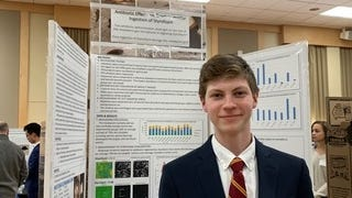 Melrose resident and Boston College High School sophomore Kieran Dunn recently won one of 19 first place winners at the Massachusetts Science and Engineering Fair.