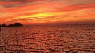October 2020 sunset on Florida's Nature Coast.