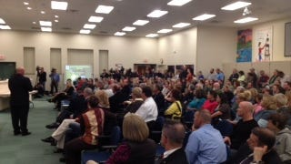 The crowd at the Boone County School Board meeting