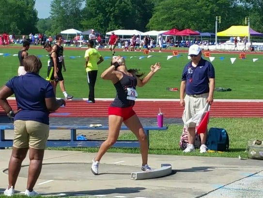 Woodmore's Annalicia Torres qualified for the Junior