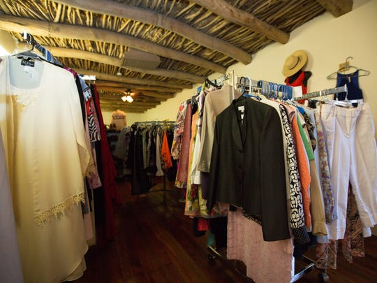 The new Vintage Vibe section at My Rich Sister's Closet & Boutique includes party dresses from the mid 50s and early 60s.