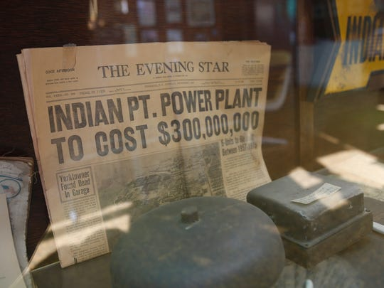 An old newspaper at the Buchanan Town Hall history room.