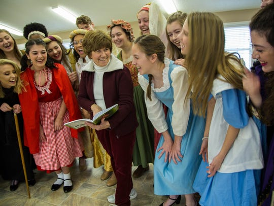 The cast of 'Into the Woods, Jr.' is all smiles at