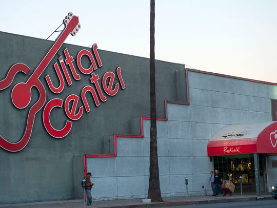 A Guitar Center retail store in Hollywood, Calif.