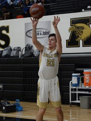 Abilene High's Nic Marczynski shoots a 3-pointer during the Eagles' 82-73 win over Weatherford on Friday at Eagle Gym.