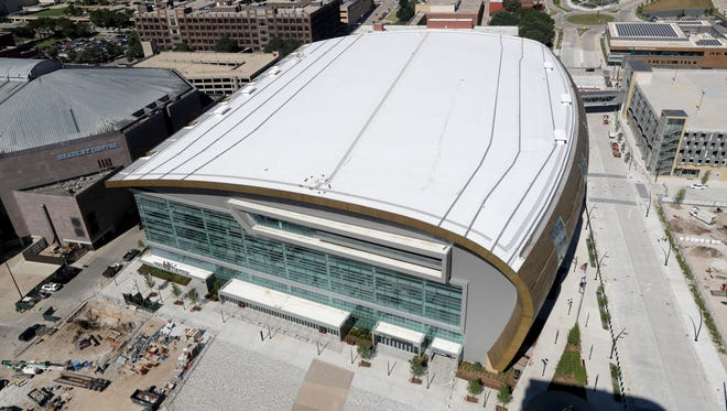 The new Milwaukee Bucks Arena is scheduled to open in late summer.
