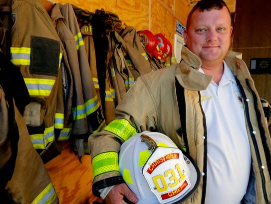 Mike Tapp the Christiana volunteer firefighter Chief