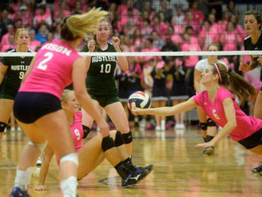 GFH players try to keep the ball in play Tuesday night