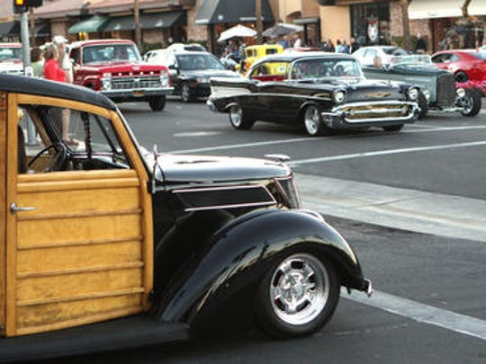 El Paseo Cruise Night, which draws hundreds of classic and souped-up autos to Palm Desert's upscale shopping district, kicks off its fourth season on Friday, Nov. 4, 2016.