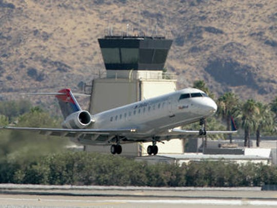 File photo of a Delta Airlines aircraft taking off.