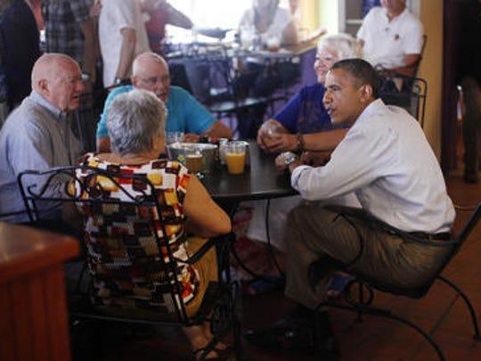 President Barack Obama visited Ossorio Bakery & Cafe