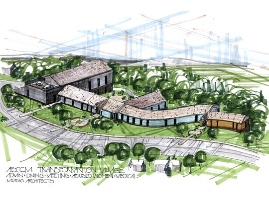 Preliminary architectural drawings for the planned Transformation Village. Asheville Buncombe Community Christian Ministry announced Wednesday that it had raised about $4 million to build 100 transitional housing units for homeless women and children near the Asheville Outlets.