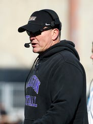 James Madison coach Mike Houston on the sidelines during