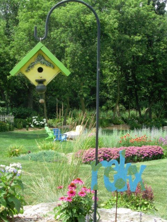 Perennial Gardens in the Rather's Beaver Dam home