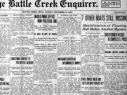 The Battle Creek Enquirer, Nov. 16, 1913