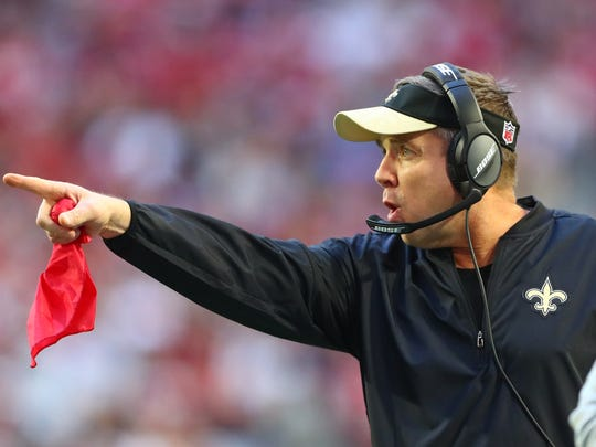 Giving Sean Payton of the Saints and all NFL coaches