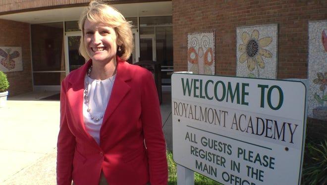 Gail Kist-Kline outside of the former Mason Heights Elementary School in 2013.