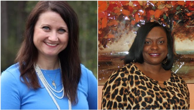 Jodi McKenzie, left, has been selected as the Mississippi Teacher of the Year. Corlis Curry, right, has been selected as the Mississippi Administrator of the Year.