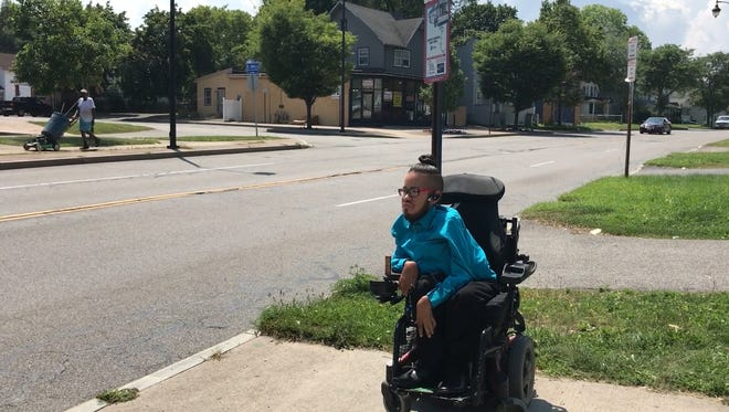 Public transportation is the norm for many wheelchair users, like 27-year-old Jensen Caraballo.