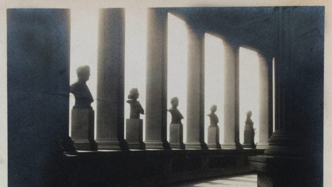 """""""Colonnade,"""" Photographer Unknown, circa 1925. Gelatin silver print. Part of the 6th Annual Vernacular Photography Exhibition and Sale at Fine Art Framing in Tempe."""