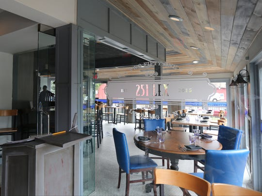 The entryway and glass enclosed bar/dining area at 251 Lex, which recently closed in Mount Kisco but is still accepting bookings for private parties.