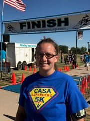 Courtney Dodson, who started running about a year ago, ran both the Rescue the Animals, SPCA and CASA 5Ks on Saturday.