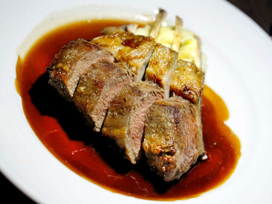 The rack of lamb is one of the traditional offerings