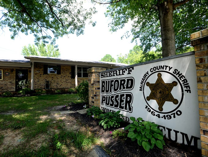 The former of home of Buford Pusser, former Sheriff of McNairy County, is now a museum housing Pusser's belongings.