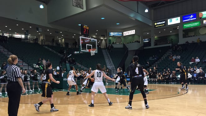 The Binghamton University women's basketball team hosted UMBC on Wednesday night in the Events Center.