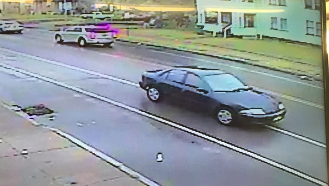 Rochester police officers are looking for this blue Chevrolet Cavalier following a hit-and-run crash that injured an 11-year-old Rochester boy on St. Paul Street on Aug. 16, 2016.
