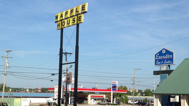 Waffle House has been razed at 2314 N. Highland Ave., but  the company is building a new restaurant at the location.