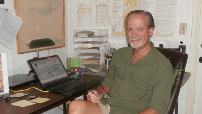 Author Robert Macomber usually works on multiple books at any one time, each taking about four years from concept to publication.
