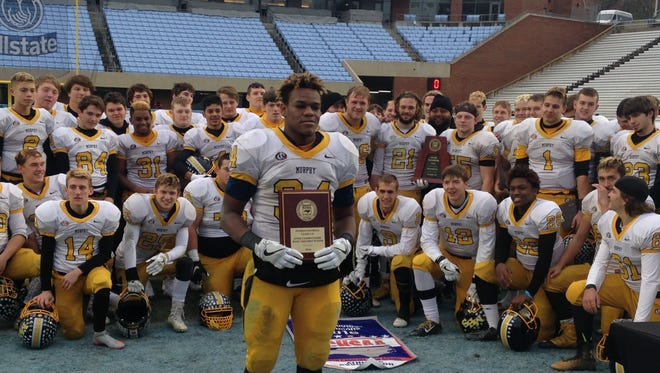 Murphy's Kadrian McRae was the most valuable player of Saturday's NCHSAA 1-A championship football game in Chapel Hill.