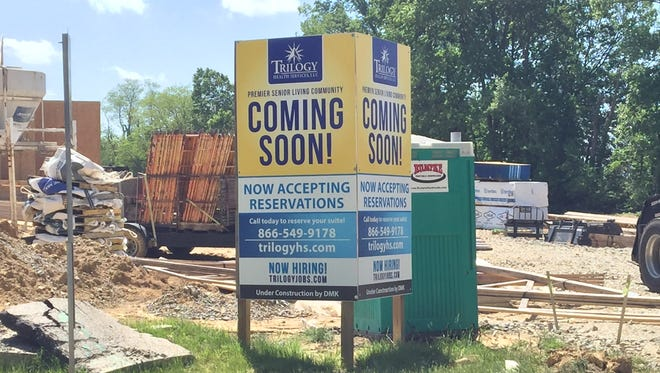 New apartments are part of ongoing development in Union Township and are expected to wrap up in 2018.