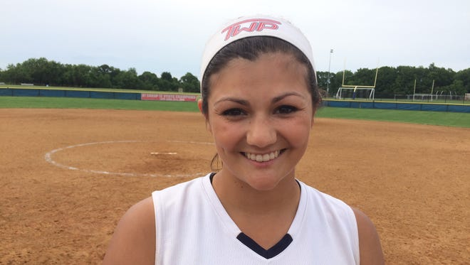 Washington Township pitcher Gabby Merryman threw a two-hitter against Millville to help the Minutemaids push through the South Jersey Group 4 semifinals.
