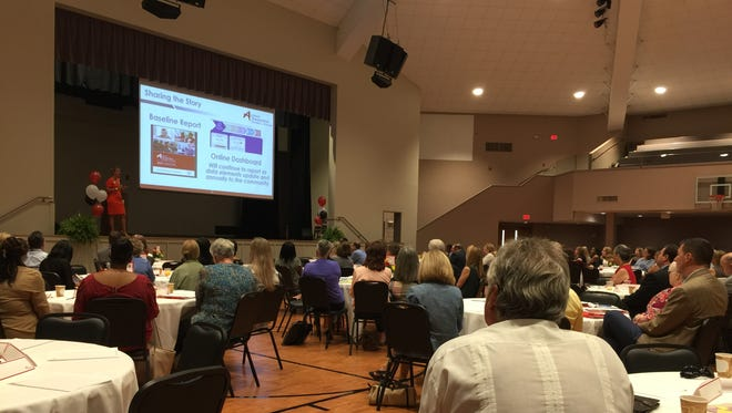 Achieve Escambia, an organization operating under the United Way of Escambia County, unveiled its baseline report and online dashboard on Tuesday, Aug. 22, 2017 at the Brownsville Community Center. The report and dashboard contain data on educational performance in the county as well as other topics such as economics and poverty.