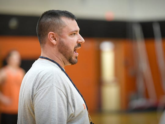 Palmyra boys basketball coach Pete Conrad likes Kansas