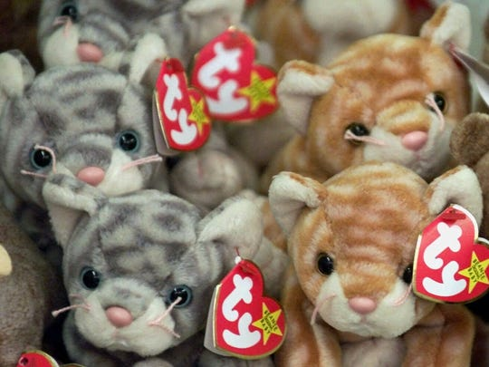 At their height, some Beanie Babies commanded prices in the hundreds of dollars.