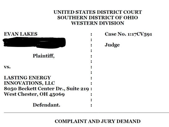A West Chester man is suing his former employer, claiming